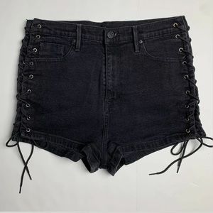 BDG Pin Up Shorts Super High Rise 32 Lace Up Thigh